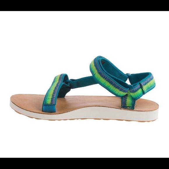 Womens Teva Original Universal Ombre Sports Walking Sandals Teal